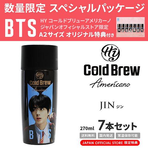 【賞味期限間近】【20%OFF】「Jin」7本セット BTS 防弾少年団 HY Cold Brew Americano コールドブリュー コーヒー 特典付き