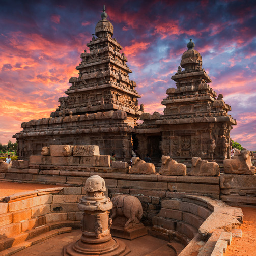 Tamil Nadu landmark - Shore temple  in