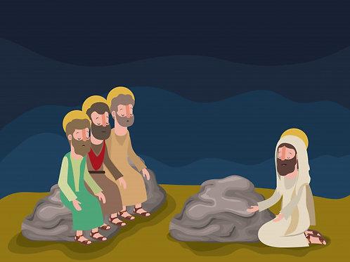 Chúa cầu nguyện trên núi
