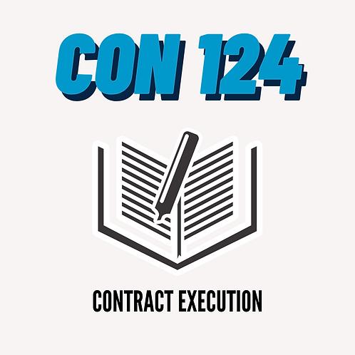 CON 124: Contract Execution