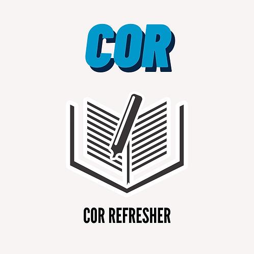 COR Refresher
