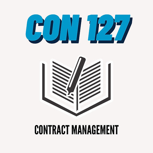 CON 127: Contract Management