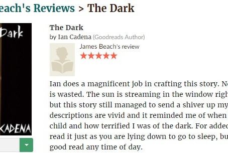 5 star review for THE DARK