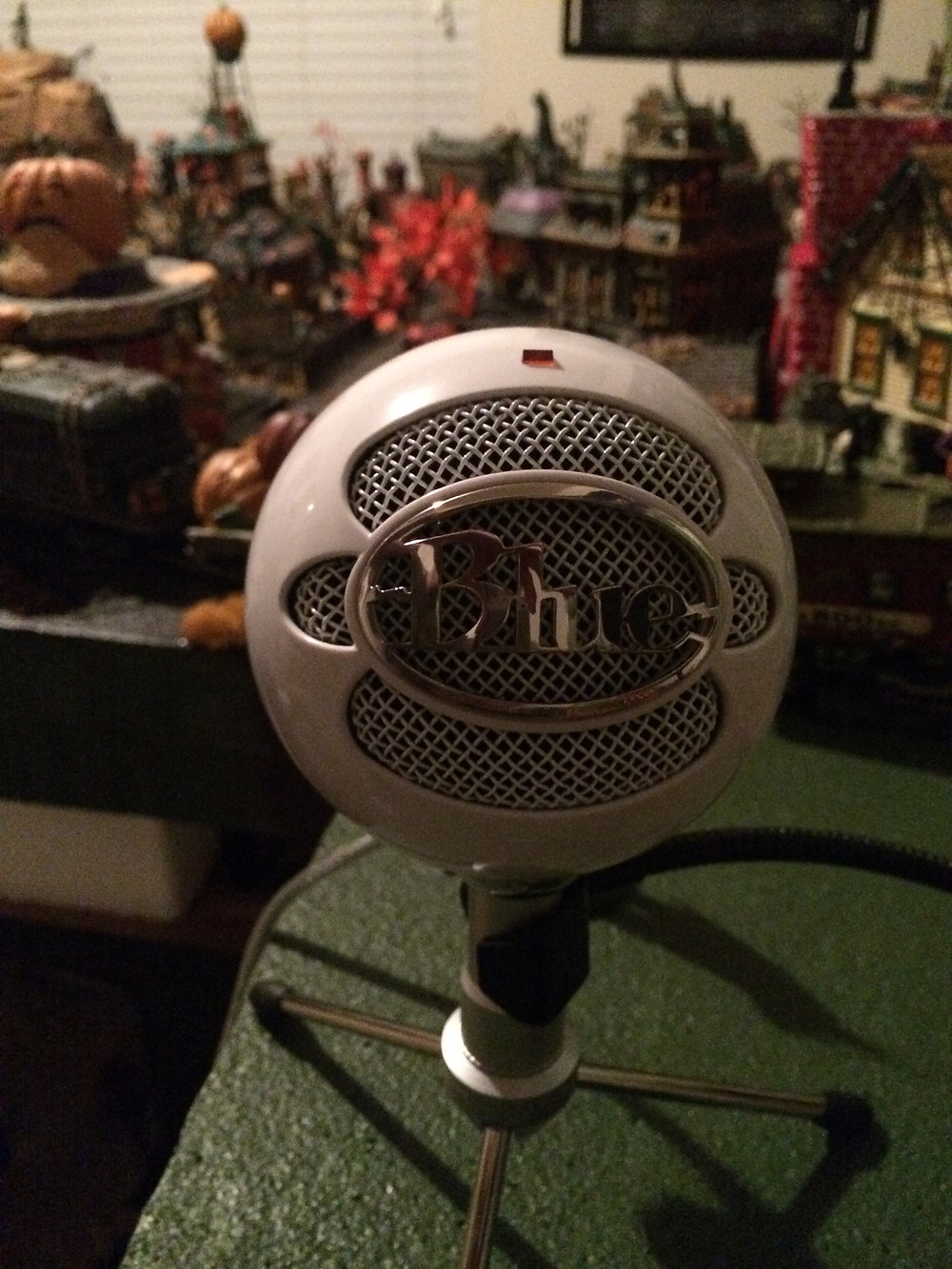 Narrating the audibook from my Halloween Village
