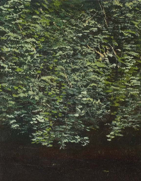 River leaves on the Almond Spring 20 x 25