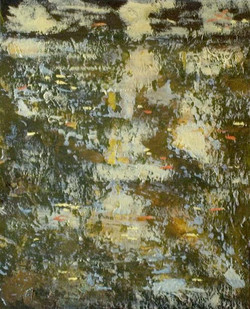 Autumn Leaves on The Almond  20 cm x 25 cm