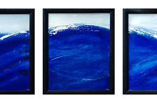 Blue Wave Triptych