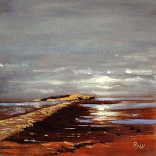 Grey sky Cramond Sands