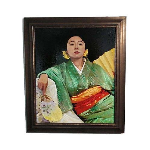 Komachi in Silk Kimono