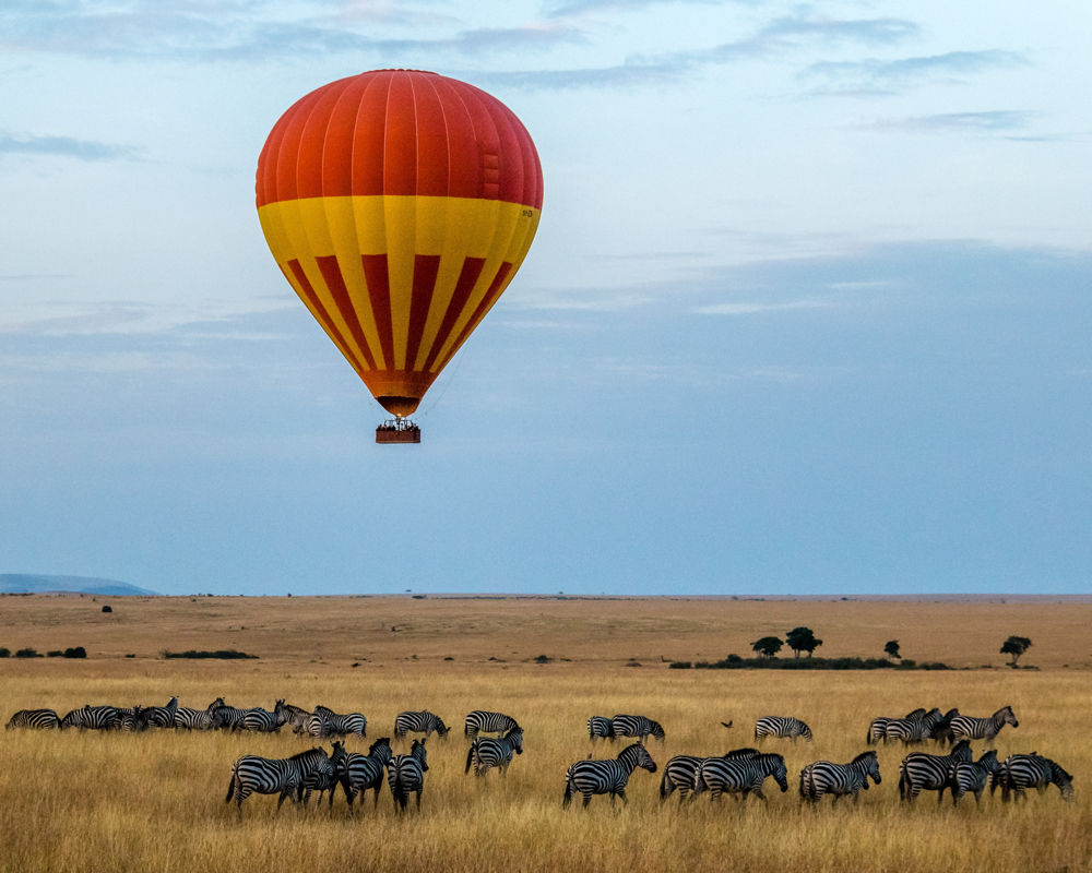 Africa Trip Planner | GeoLuxe Travel LLC | hot air balloon in Africa
