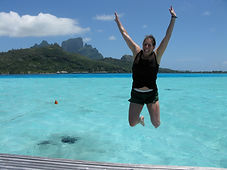 GeoLuxe Travel | Jumping in French Polynesia | Luxury Travel Planner