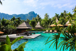 Custom Asia Vacation | GeoLuxe Travel LLC | pool and villas at a resort
