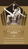 Poster Design by Mery McNett - Champagne and Chocolate logo by Walsh Branding