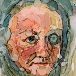 Alcohol Ink Self Portrait