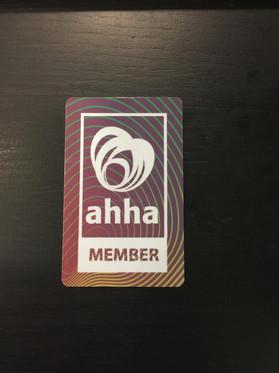 AHHA Membership Card