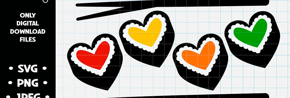 Heart Draw Sushi • SVG PNG JPEG