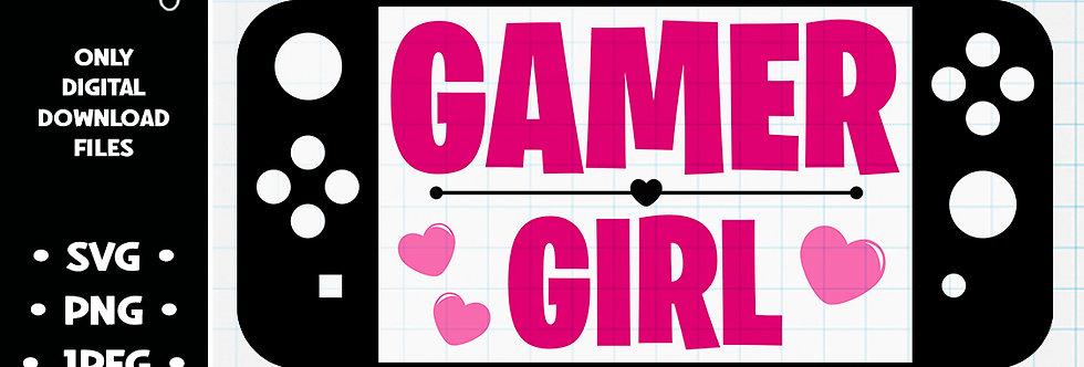 Gamer Girl • SVG PNG JPEG