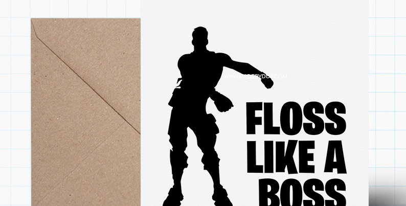 Greeting Card - Fortnite Themed - A5 size