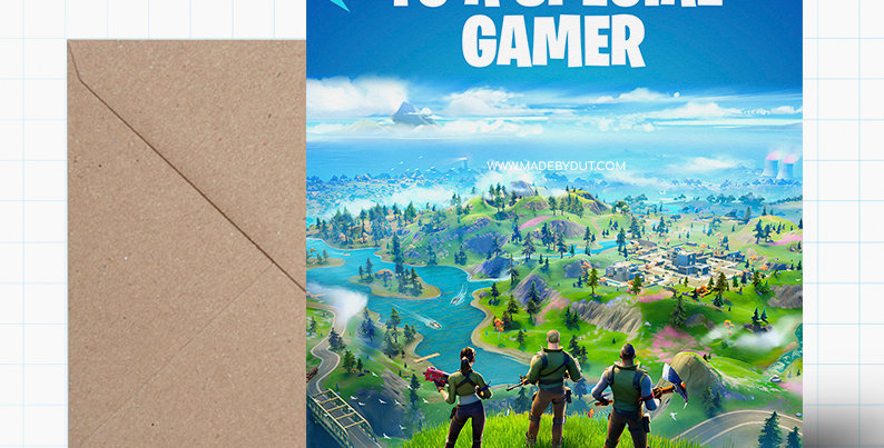 Greeting Birthday Card - Fortnite Themed - A5 size