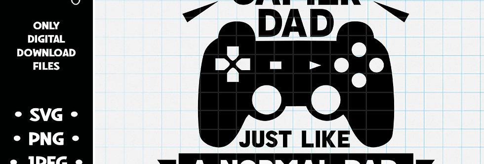 I'm a Gamer Dad • SVG PNG JPEG
