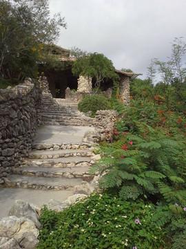 Stairwell at the San Antonio Botanical G