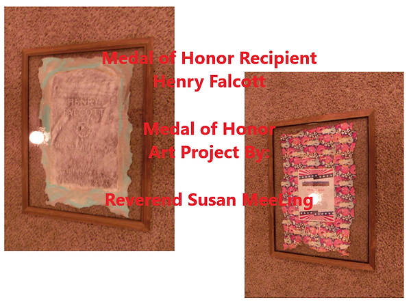 Medal of Honor Art Project By:  Susan MeeLing, Medal of Honor Art Project, Medal of Honor Henry Falcott, Indian Wars, US Army, Artist Reverend Susan MeeLing, Artist Susan MeeLing, Artist Lady Dori Belle