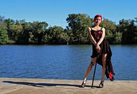 Lady Dori Belle in a corset dress by wat