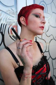 Lady Dori Belle AKA Susan MeeLing smokin