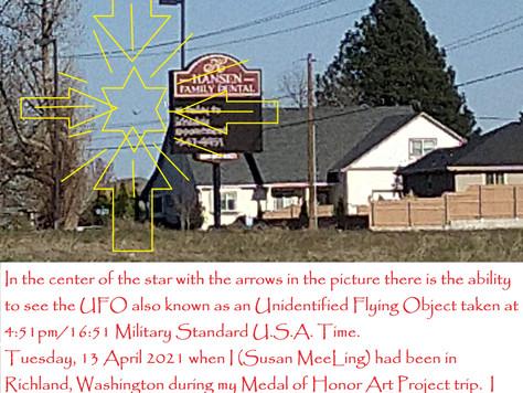 13 April 2021:  Tuesday  :  Richland, Washington  :  UFO image captured