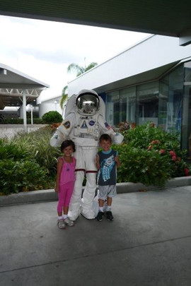 Lidia Louise and Astronaut and James Michael