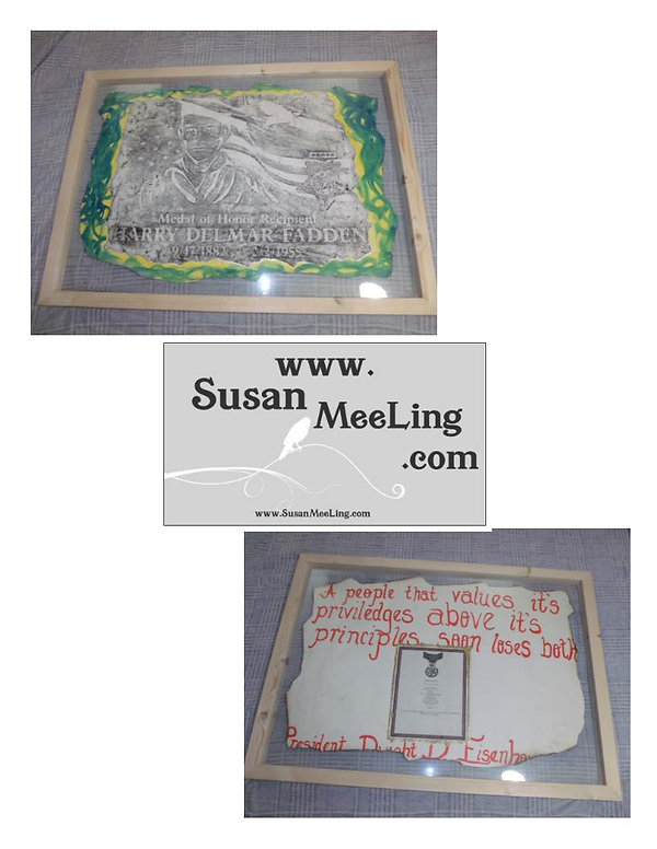 Army, Seattle Washington, state,Medal of Honor Art Project By:  Susan MeeLing, Medal of Honor  Harry Delmar Fadden, Medal of Honor, President, Dwight Eisenhower, quotes by, Susan MeeLing, Medal of Honor Art, McLendon's, #ProudAmerican,