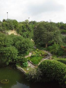 Pond with stone bridge of the San Antoni