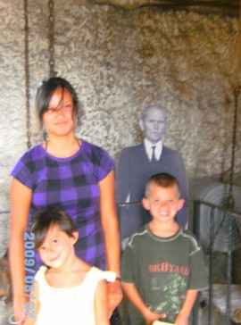 Lidia Louise and cousin Marissa Marie and James Michael