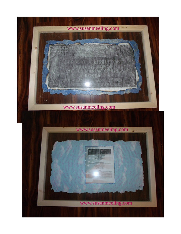 Medal of Honor Art Project By:  Susan MeeLing, Medal of Honor Herbert Littleton, prayer, Idaho, USMC, Marine Corps