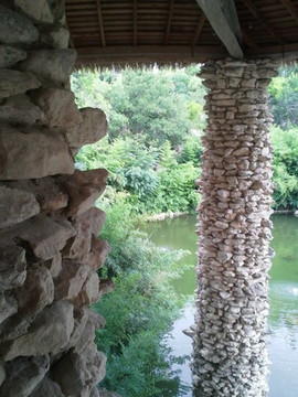 Stone Pillars in the Japanese area of th