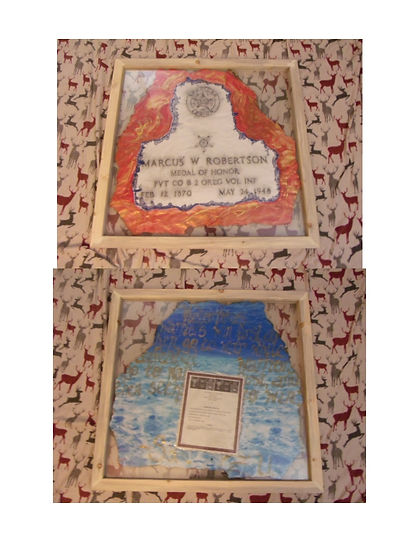 Philippines War, Medal of Honor Art Project By:  Susan MeeLing, Medal of Honor  Marcus W Robertson, Marcus Robertson, Hood River, Hood River Oregon, Oregon, Pine Bluff Grove, Pine Bluff Grove Cemetery, Army, Medal of Honor, Medal of Honor Recipient, Medal of Honor Art, Medal of Honor Artwork, Susan MeeLing