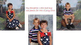 My daughter Lidia and my son James 4th o