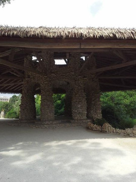 Interior area of the hut at the Japanese