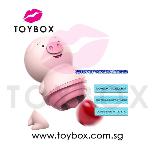 Lovely Pig Tongue Licking Vibrator Silicone