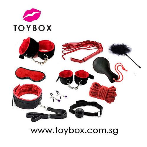 BDSM 10pcs/7pcs Adult SM Bondage Set (Black/Red/Purple/Pink) for Couple