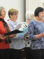 The choir entertain us
