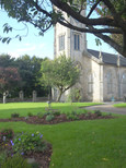Flower Beds in front of Church