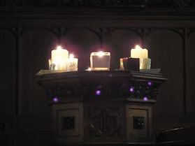 Candles on an alter