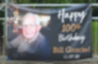 Bill's 100th Birthday Banner