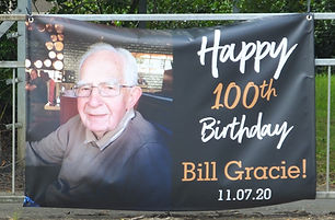 Bill's 100th Birthday Banner