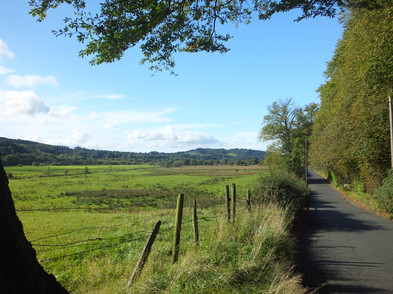 Coach Road looking towards Bar Hill