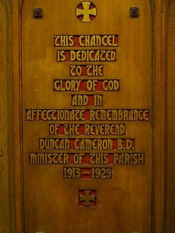 Rev Duncan Cameron