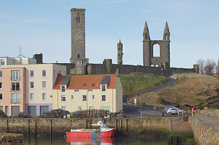 St Andrews Harbour and Cathedral