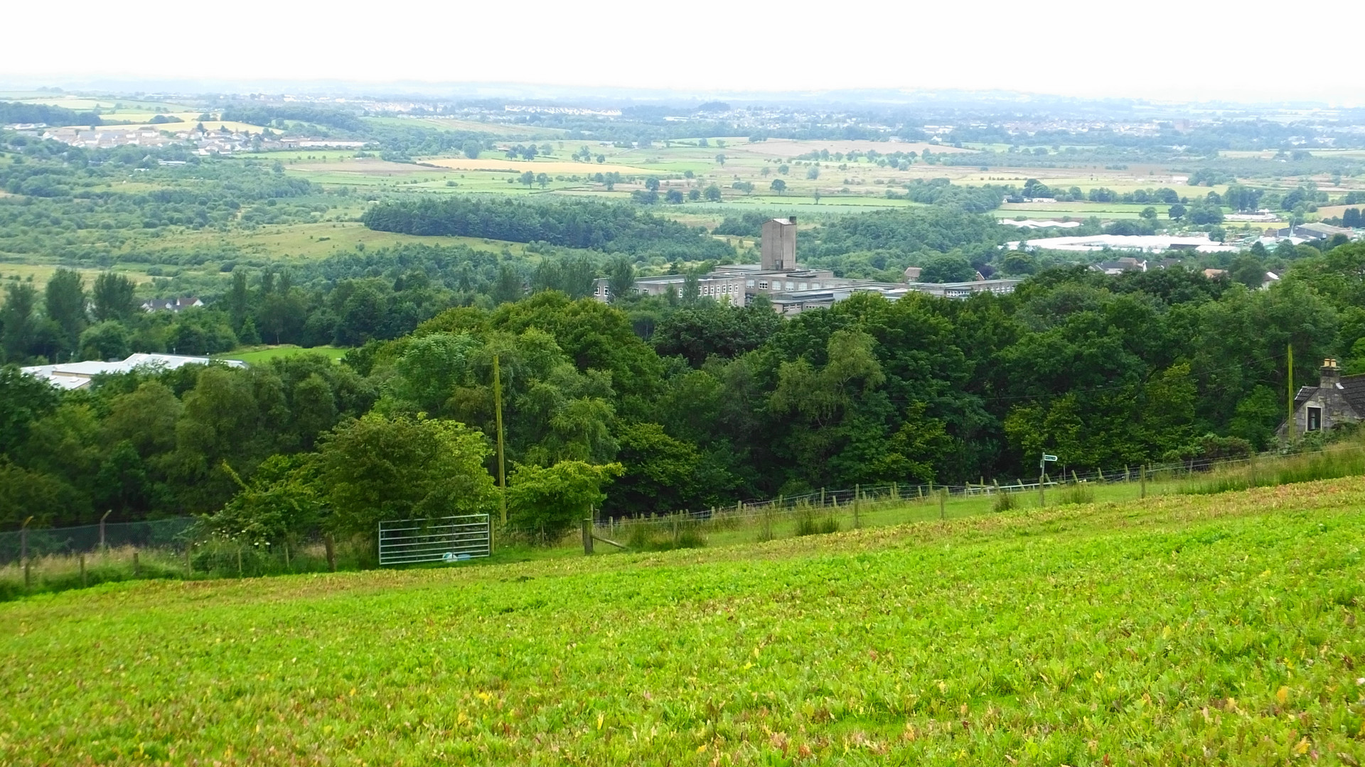 Kilsyth Academy view from the moors