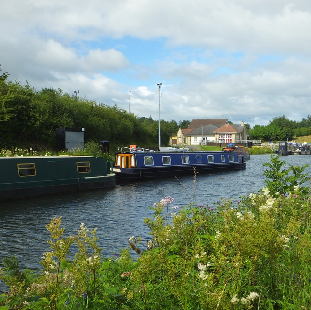 Barges on the canal